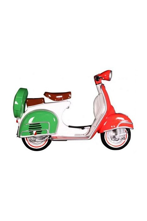 MOTO SCOOTER PARED BANDERA ITALIA