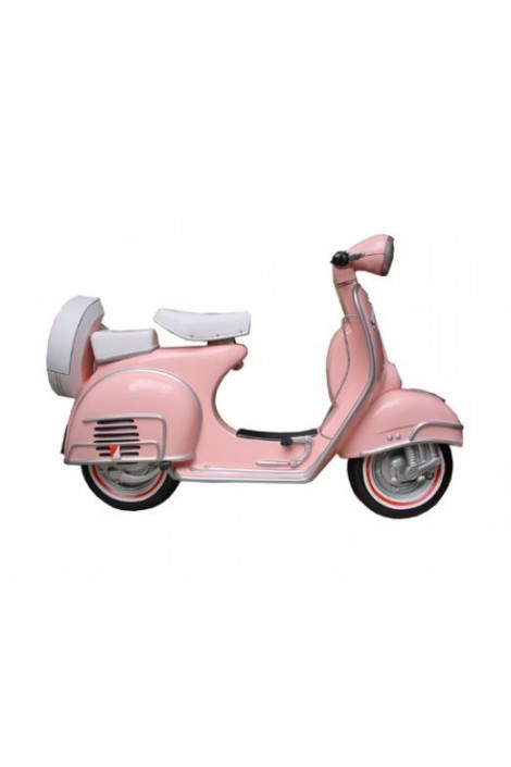 MOTO SCOOTER PARED ROSA