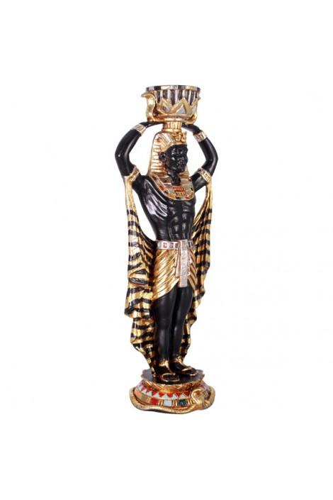 PORTAVELAS HOMBRE EGIPCIO