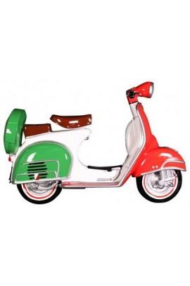 MOTO SCOOTER PARED BANDERA ITALIA