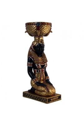 MACETERO MUJER EGIPCIA DE RODILLAS